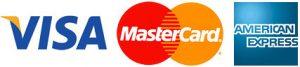 Visa, Master Card, AMEX